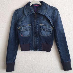 BCBG MAXAZRIA Jeans Jacket . Size XS